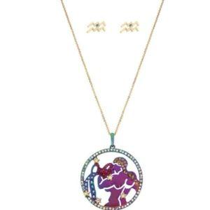 Betsey Johnson Zodiac Aquarius Necklace